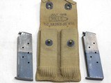 Colt Model 1911 Military 1918 Production With Heart Shaped Openings In Grip Frame - 2 of 19