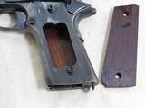 Colt Model 1911 Military 1918 Production With Heart Shaped Openings In Grip Frame - 18 of 19