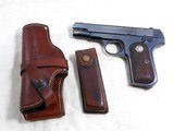Colt Model 1908 In 380 A.C.P. With Heiser Holster, Clip Carrier With Magazine