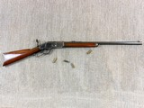 Winchester Model 1873 Rifle In 38 W.C.F. In Fine Original Condition