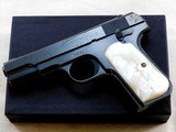 Colt Model 1908 In 380 A.C.P. With Reproduction Box And Period Pearl Grips.