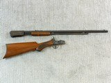 Winchester Model 1890 In Rare Semi Deluxe With Factory Letter - 22 of 25