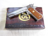 Colt Mark IV Series 70 Government Model With Custom Shop Electroless Nickel Finish