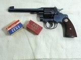 Colt Officers Model Target 22 Rim Fire With 6 Inch Barrel