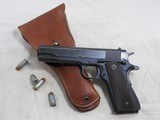 Ithaca Gun Co. Model 1911-A1 Late Wartime Production With Holster