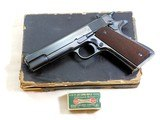 """Colt Model """"Ace"""" 22 Self Loading Second Year Production With Factory Letter And Box"""