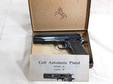 Colt Model 1911 A1 Early Post War 38 Super With Scarce Fat Barrel And Box - 3 of 23