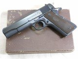 Colt Model 1911 A1 Early Post War 38 Super With Scarce Fat Barrel And Box - 1 of 23