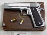 Colt Model 1911-A1 Civilian Government Model 45 A.C.P. In The Rare Nickel Finish With Original Box
