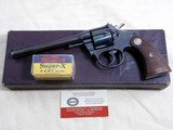 Colt Model Police Positive Target In Rare 22 W.R.F. With Original Box