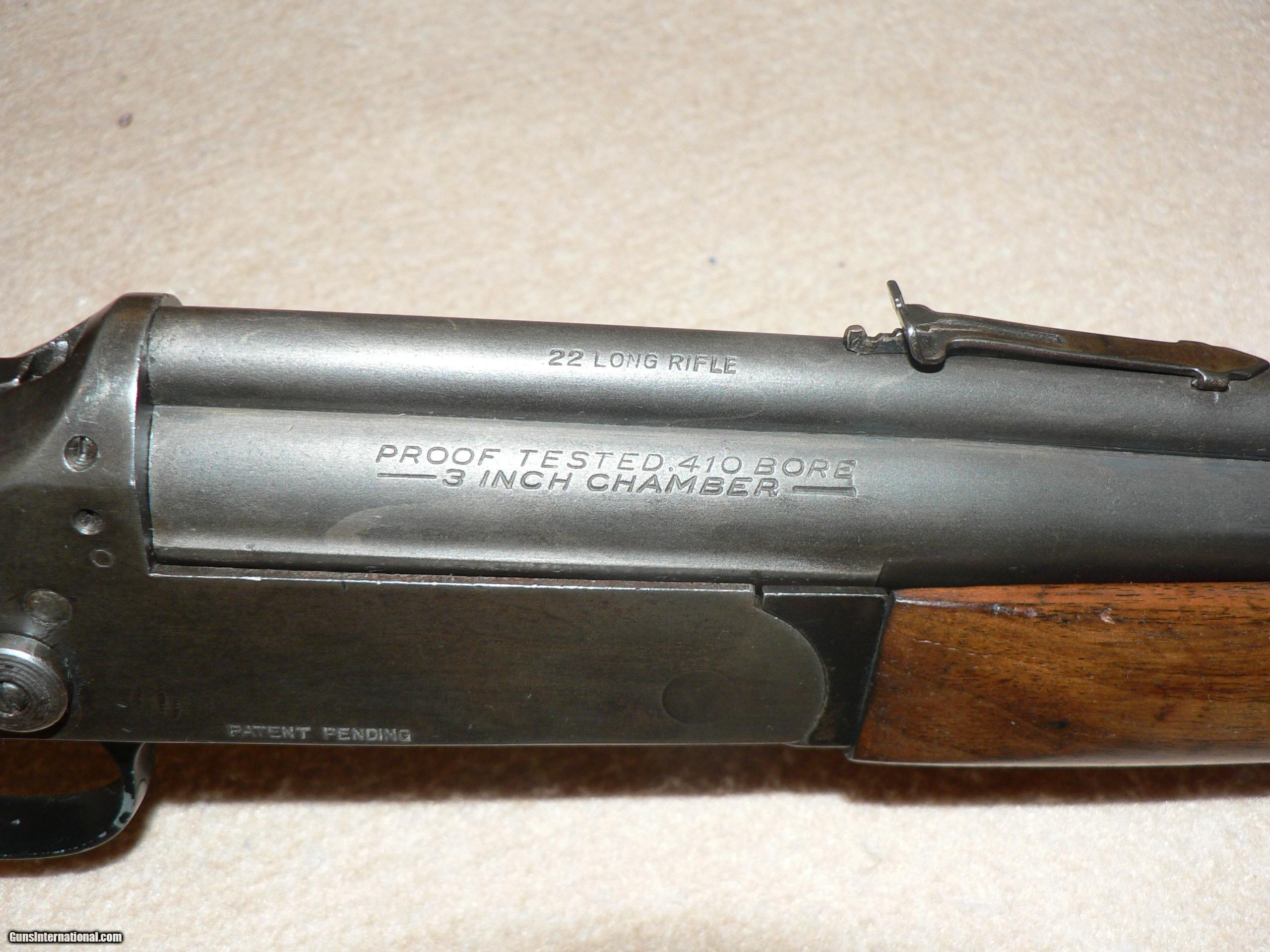 ... Stevens 22 rimfire over 410 combination gun - 11 of 11