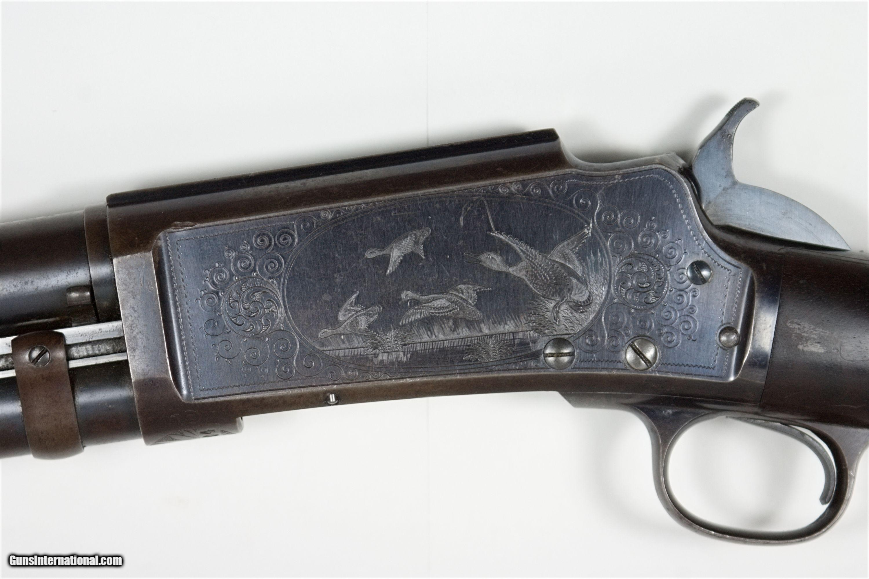 Rare Factory Engraved Deluxe Model 16 Marlin Pump Shotgun