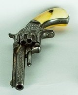 EARLY NIMSCHKE ENGRAVED SMITH & WESSON 22 RIMFIRE SINGLE ACTION, 1ST MODEL, 3RD ISSUE, ORIGINAL IVORY GRIPS - 12 of 14