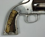 """RARE HIGH CONDITION 2ND MODEL NO 3 SMITH & WESSON AMERICAN, 8"""" BARREL X 44 RUSSIAN, NICKEL, WALNUT, SOME KNOWN HISTORY - 6 of 14"""