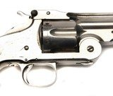 """RARE HIGH CONDITION 2ND MODEL NO 3 SMITH & WESSON AMERICAN, 8"""" BARREL X 44 RUSSIAN, NICKEL, WALNUT, SOME KNOWN HISTORY - 4 of 14"""