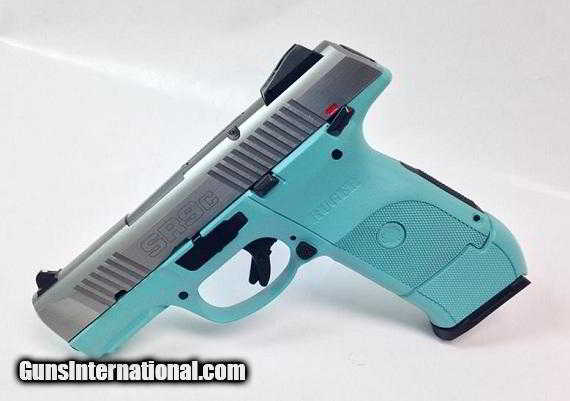 Diamond Blue Ruger SR9C 9mm Handgun with Stainless Steel