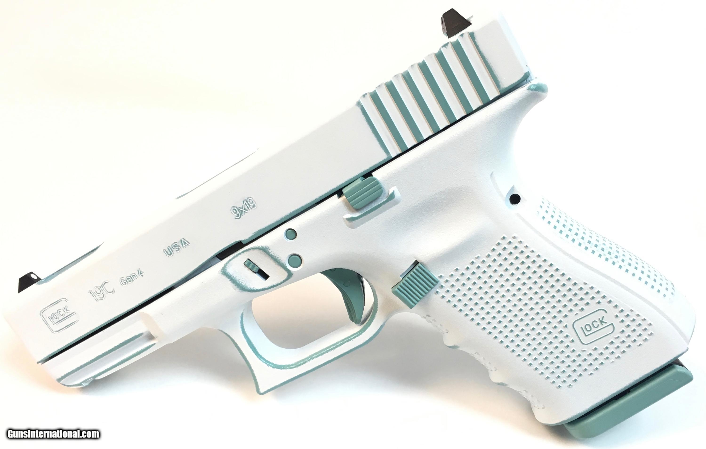 1d54abc94d8 For Sale  NIB Glock 19C Gen4 White with Diamond Blue Accents - 1 of 3 ...