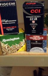 Remington 500 Rounds, High Velocity , 40gr,rounded nose, .22LR, Factory Sealed - 1 of 1