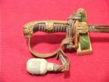 GERMAN WWII ARMY OFFICERS LIONS HEAD SWORD - 2 of 6