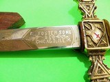 Antique Victorian Knights Templar Sword 1892/1900 Gold Engraved Exc Cond - 7 of 15