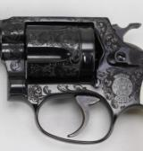 SMITH & WESSON, MODEL 36,BLUE ENGRAVED /IVORY GRIPS - 14 of 22