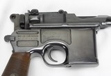 Mauser C-96 Broomhandle w/ Wooden Stock / Holster - 5 of 25