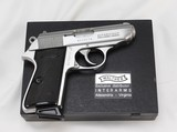 Walther PPK/S Semi-Auto Pistol .380ACP (Early 1990's) INTERARMS- STAINLESS