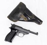 Mauser P-38 Byf44 Semi-Auto Pistol 9MM (1944) & Holster- NAZI MARKINGS