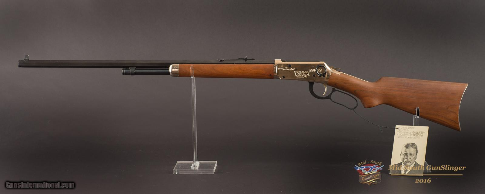 Teddy roosevelt guns to be displayed at nra national - Winchester Model 94 Winchester Model 94 Theodore Roosevelt Commemorative Rifle 30 30 Winchester 26 Octagon Barrel No Cc Fee