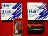 "BULLETS 9.3 mm/.366"" HAWK, HORNADY AND BARNES"