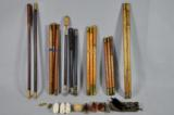 Unknown Makes, selection of three-piece vintage cleaning rods - 1 of 1