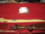 CASED RENATO GAMBA SUPERPOSED EJECTOR DOUBLE RIFLE 375 H&H - 5 of 5
