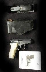 Custom Cerakoted CZ 82 9x18 pistol w extra mag/holster, custom grips - 1 of 3