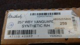 Weatherby Vanguard 257 WBY MAG Mint
