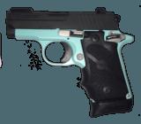 CUSTOM SIG SAUER 238 380ACP BLUE FRAME, BLACK SLIDE
