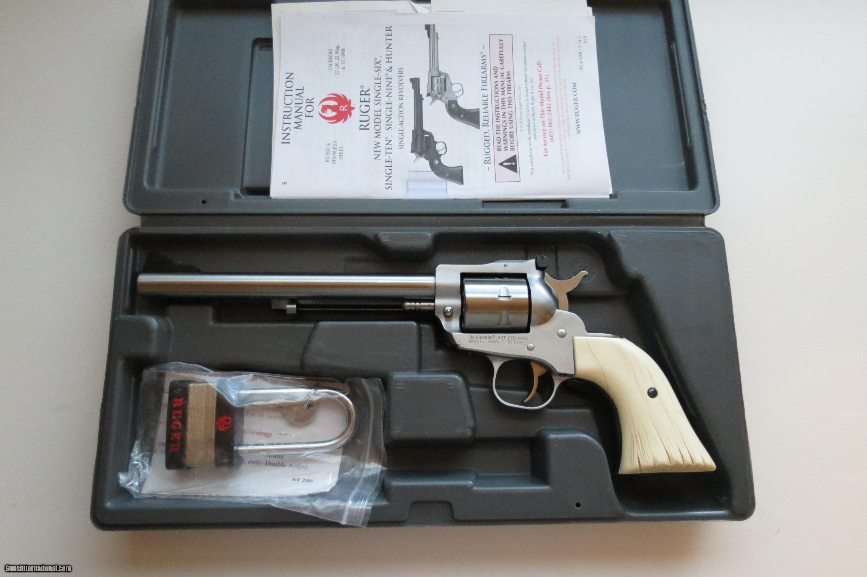 Ruger Single Seven w/ Custom Bison Head Grips
