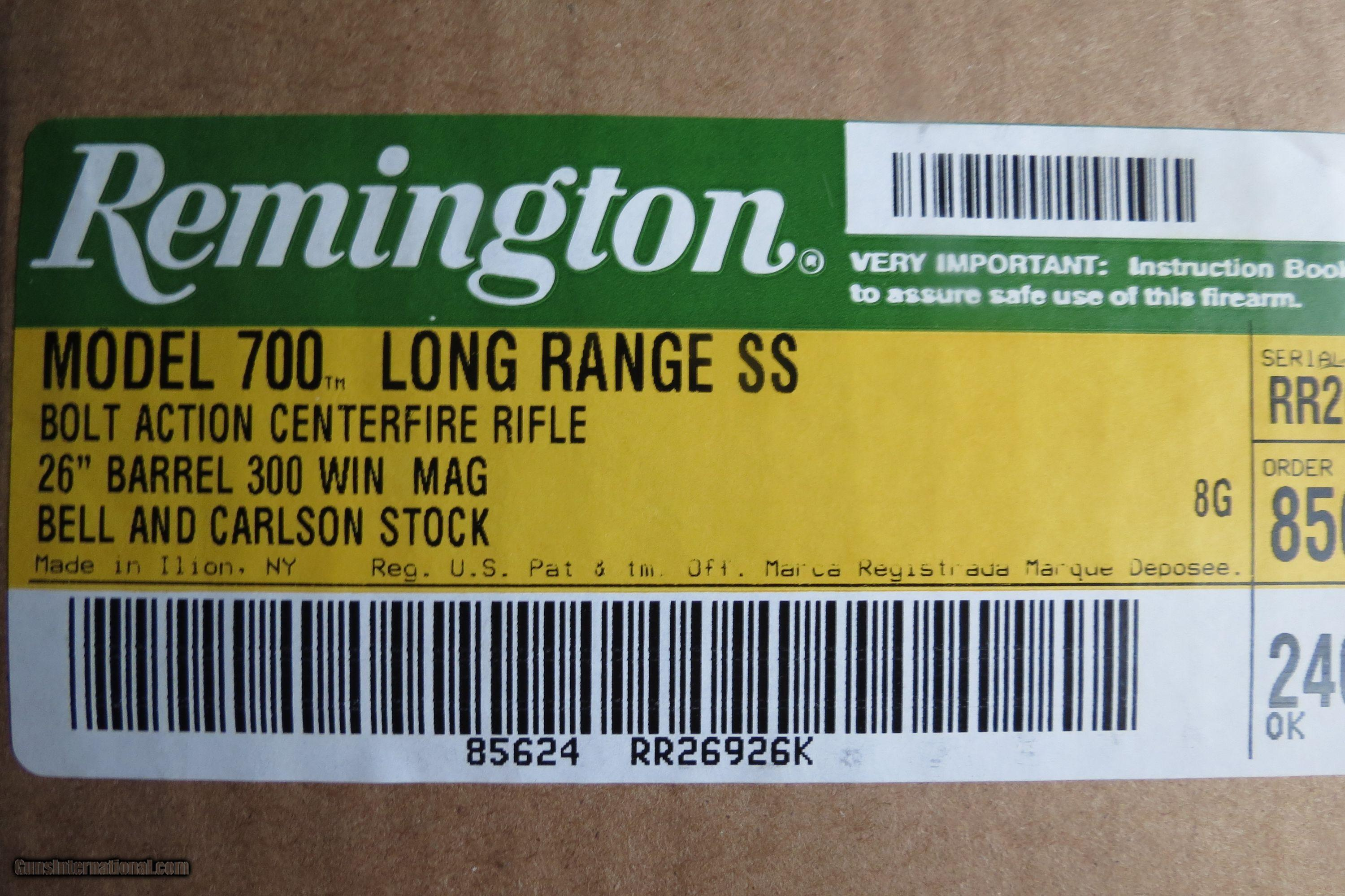 Remington 700 Long Range Stainless Steel 300 Winchester Magnum New Kotak Dvd Double 9mm Gt Pro In Box 2 Of 8