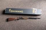 Browning BL-22 Grade II w/ Octagon Barrel, Satin Nickel Engraved Receiver