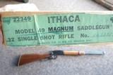 Ithaca model 49 in 22 Magnum