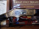 1873 Winchester Deluxe ,1 of 1000, $22 Dollar Factory Engraved with gold wash and nickel trim.