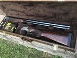 "Browning Model 625 12ga. Golden Clays w/32"" barrels. Spectacular wood-mint in case."