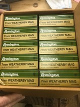 Remington 7MM Weatherby Magnum ammo-an entire case-10 boxes-200 rounds-a Best Buy!