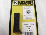 Magazine Galesi Vest Pocket .25 ACP M9 1952 Model Triple K New Our model VP 25 Automatic Clip- 2 of 10