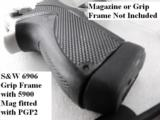 Lot of 3 Magazine Grip Adapters Smith & Wesson 5906 Magazine to 6906 Guns General Precision Black Polymer Puts Big 59 Mags onto Models 469 669 6904 69 - 6 of 15
