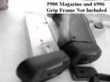 Lot of 3 Magazine Grip Adapters Smith & Wesson 5906 Magazine to 6906 Guns General Precision Black Polymer Puts Big 59 Mags onto Models 469 669 6904 69 - 5 of 15