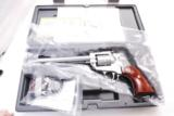 Ruger .22 Magnum Single Nine KNR69M 6 1/2 inch Stainless 9 Shot Fiber Optic Adjustable Sights 22 Winchester Magnum Only New In Box - 3 of 15