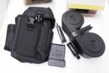 KCI Beta AR15 .223 Factory 100 Shot Double Drum Magazines New with graphite lubricant and black military case AR-15 M16 M4 fits all AR15 type includin - 2 of 15
