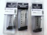 3 or more Smith & Wesson M&P Shield 9mm Factory 8 Shot Magazines Stainless 19936 MP Extension Plate $39 per on 3 or more - 1 of 10