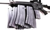 3 Colt AR-15 Magazines 30 Shot Unissued Gray Green Follower Center Industries Wichita KS Colt & GI Contractor- 6 of 6