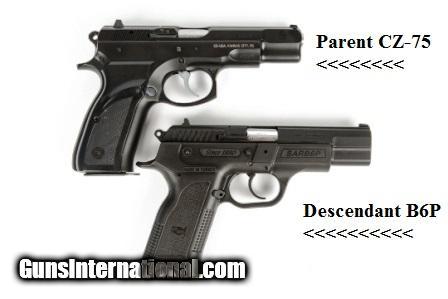 CZ75 Clone SAR Arms EAA 9mm model SARB6P9 3 Dot Sights 16